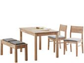 Sitzbank NORMAN 100 cm aus Massivholz in natur