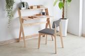 Schreibtisch-Set MILEY mit Polsterstuhl in anthrazit & natur