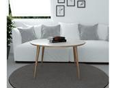 Couchtisch MONA runde Tischplatte, 90x50 cm aus Eiche
