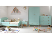 Kinderbett GIGI im skandinavischen Design mint, 70x140 cm