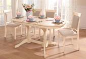2er Set Stühle LANA aus Massivholz in cremefarben