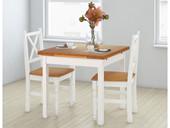 2er Set Stühle NOIR aus Massivholz in weiß und natur