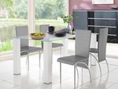 4er Set Stühle NICONE aus Kunstleder in grau
