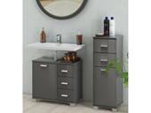 1-trg. Badezimmer Unterschrank KEN, grau Hochglanz 30 cm