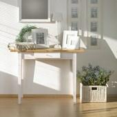 Schreibtisch SCALA mit 1 Schublade aus Kiefer in weiß natur