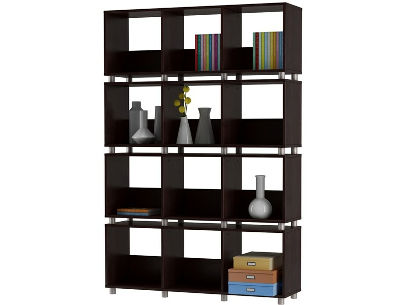 heiko regal raumteiler schwarz 114 x 30 x 168 cm. Black Bedroom Furniture Sets. Home Design Ideas
