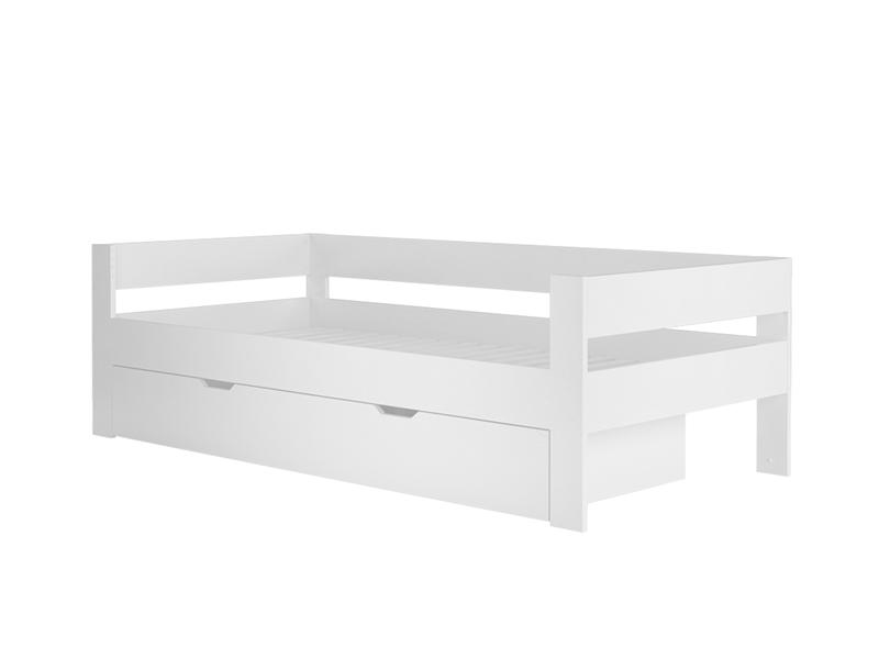 kinderbett jinny mit bettkasten aus mdf in wei. Black Bedroom Furniture Sets. Home Design Ideas