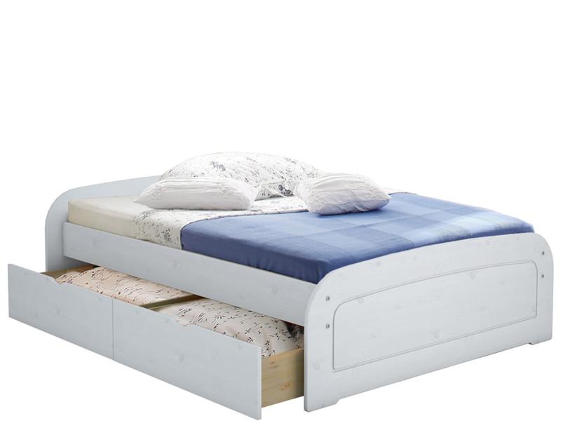 bett ronja 160x200 wei lasiert mit 1x bettkasten set. Black Bedroom Furniture Sets. Home Design Ideas