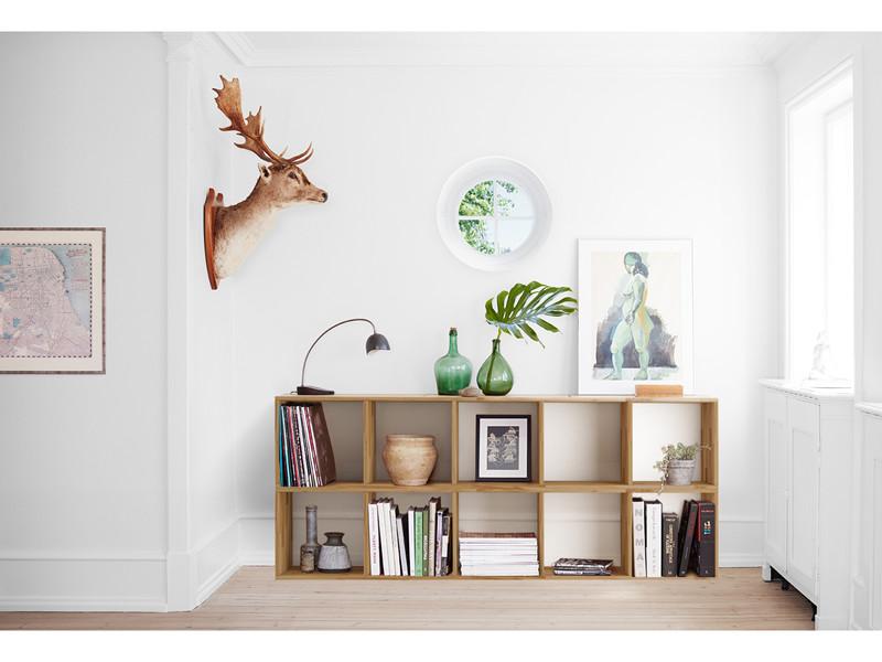 b cherregal 2x5 comfort in eiche massiv ge lt. Black Bedroom Furniture Sets. Home Design Ideas