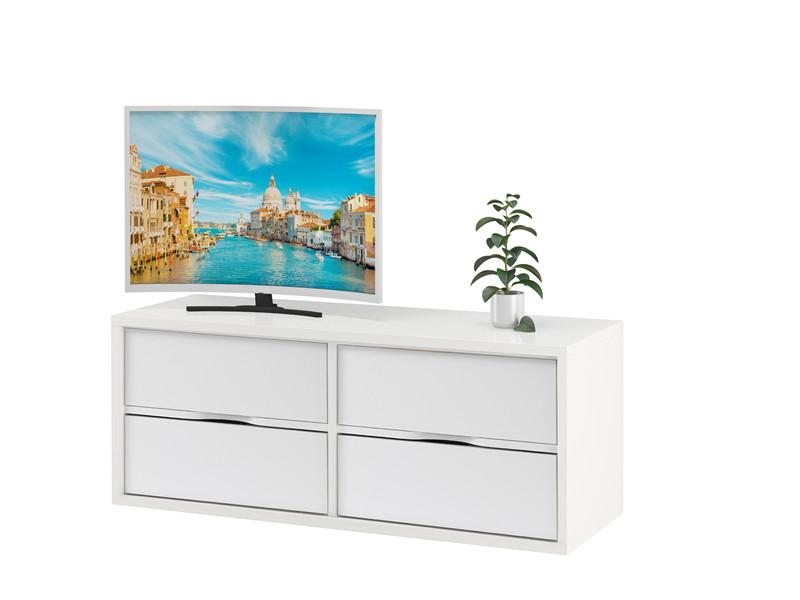 Tv Lowboard Air Set Ii 4 Schubladen In Weiß Schwebend