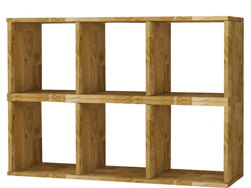 b cherregal 2x3er comfort in eiche massiv ge lt. Black Bedroom Furniture Sets. Home Design Ideas