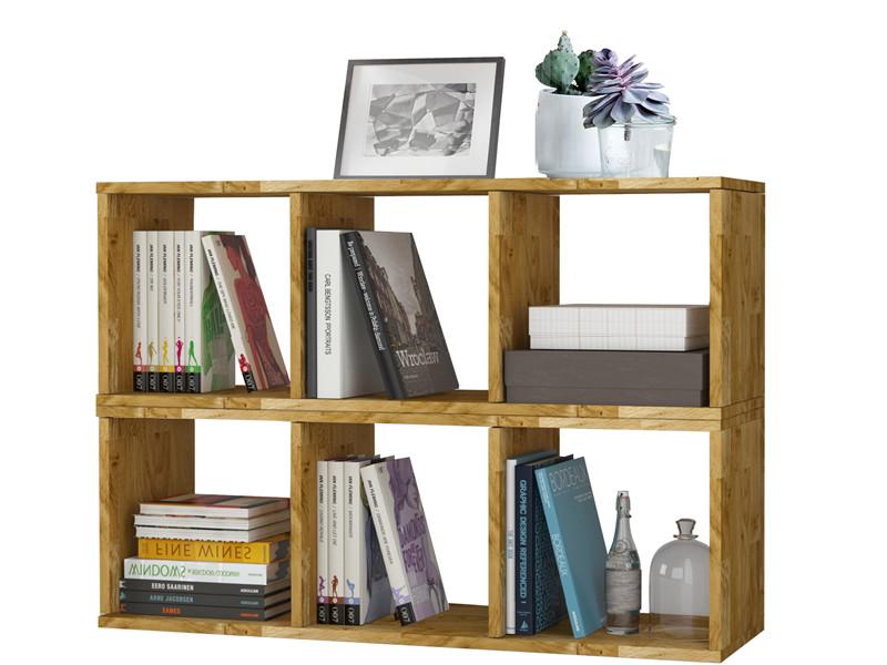 Bücherregal 2x3er COMFORT in Eiche massiv, geölt - Loft24.de