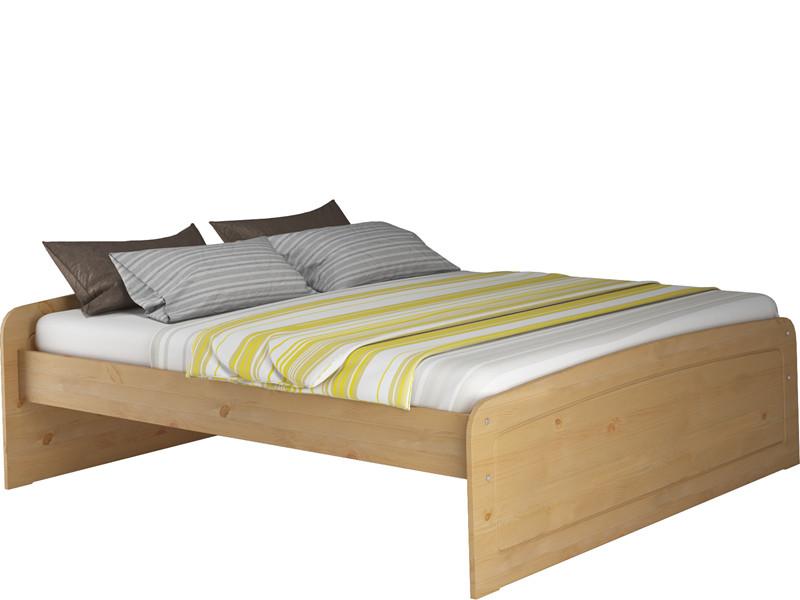 Bett RONJA 160x200 cm aus Kiefer in gebeizt geölt - Loft24.de