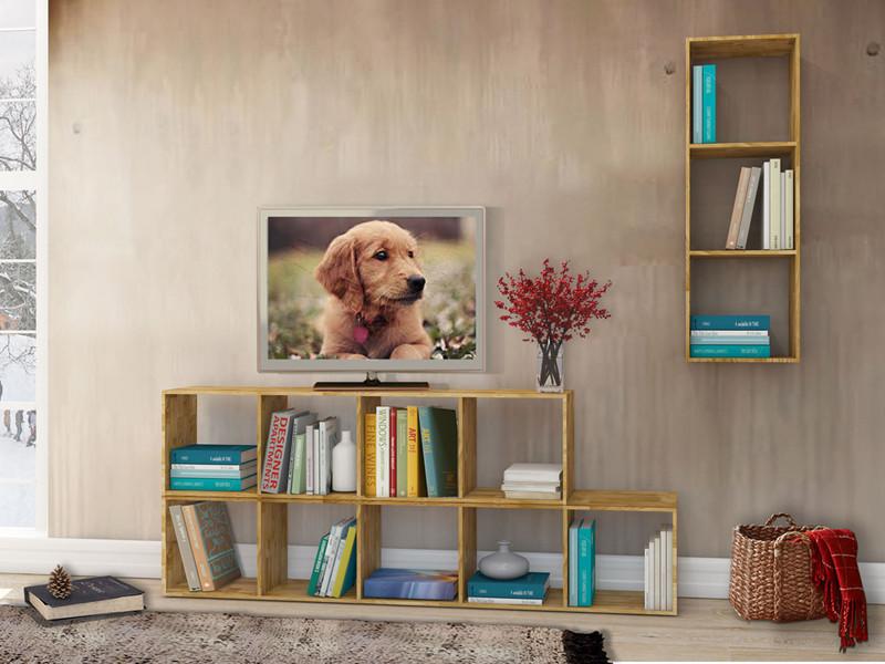 regal comfort 3 offene f cher eiche massiv ge lt. Black Bedroom Furniture Sets. Home Design Ideas