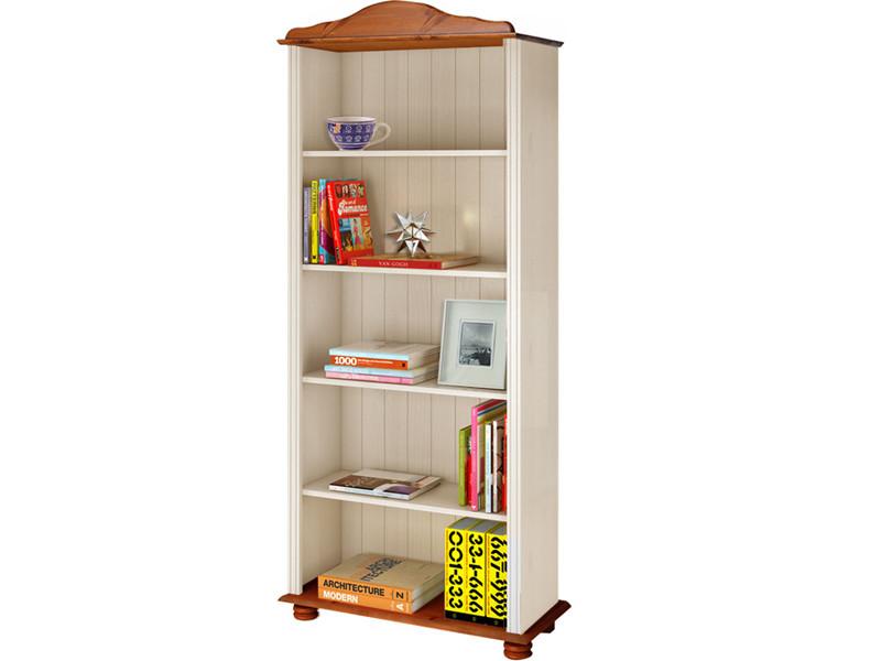 Bücherregal Landhausstil bücherregal landhausstil kiefer massiv weiß honig loft24 de