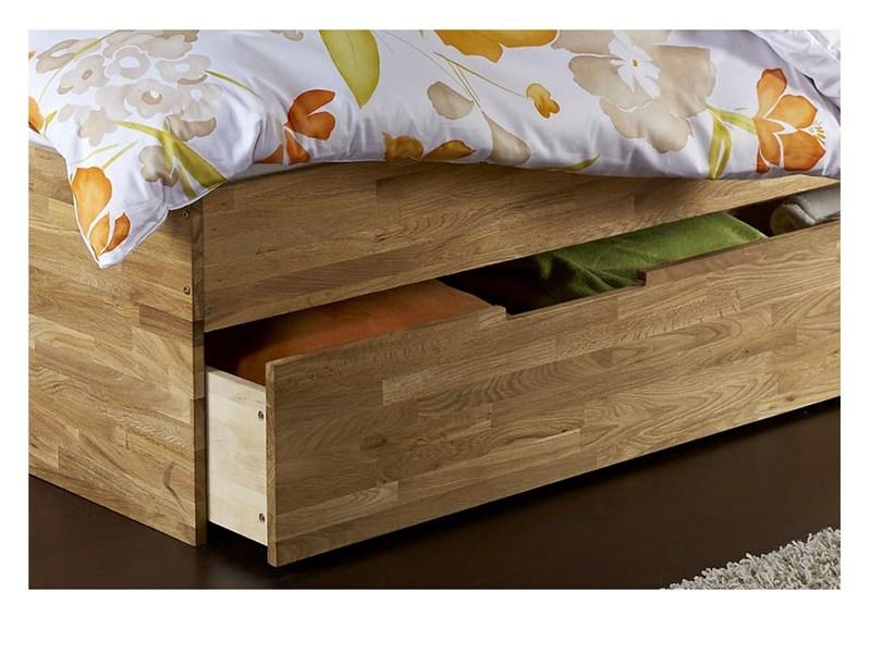 Funktionsbett 90x200 eiche  Bett CAMELIA 90x200 cm aus Eiche massiv, geölt - Loft24.de