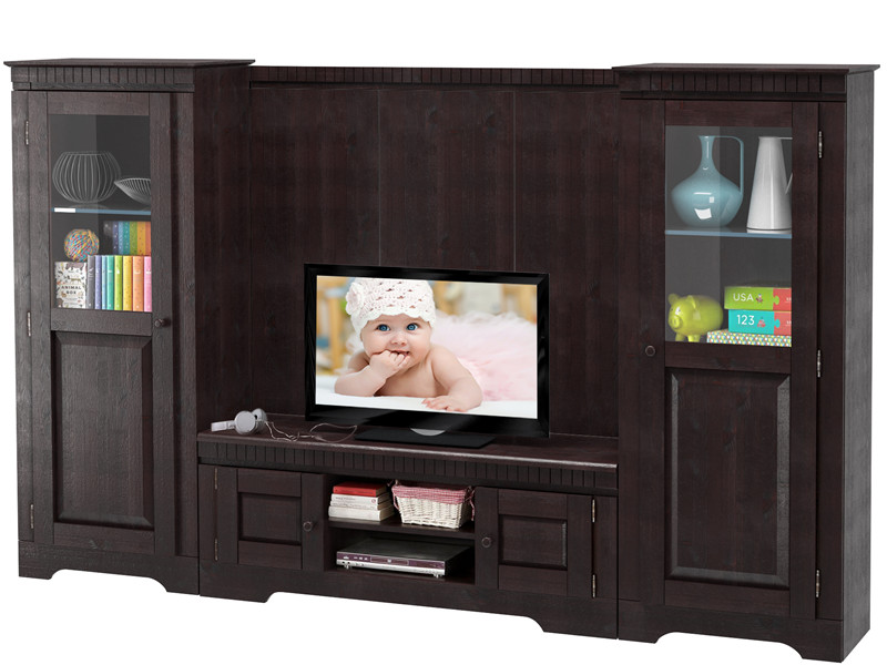 wohnwand marianne aus kiefer massiv in havanna. Black Bedroom Furniture Sets. Home Design Ideas