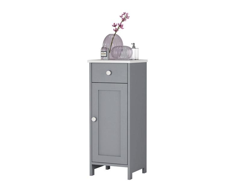 Badschrank Abby Aus Kiefer Massiv In Grau Weiss Lasiert Loft24 De