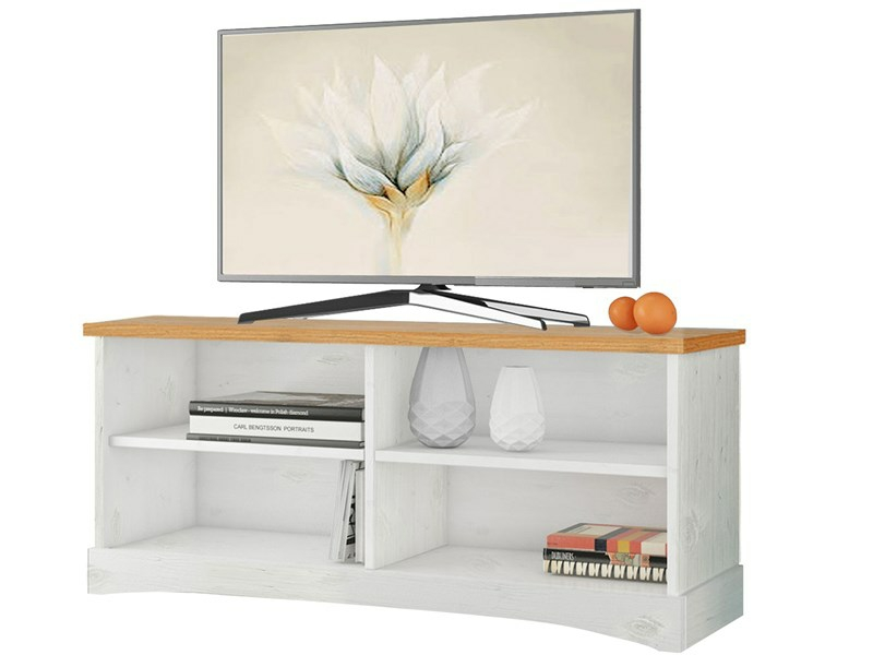 tv lowboard york aus kiefer massiv in wei honig. Black Bedroom Furniture Sets. Home Design Ideas