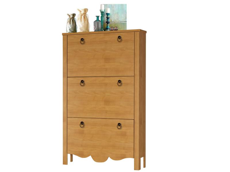 schuhschrank ava 3 klappen aus kiefer massiv gebeizt ge lt. Black Bedroom Furniture Sets. Home Design Ideas
