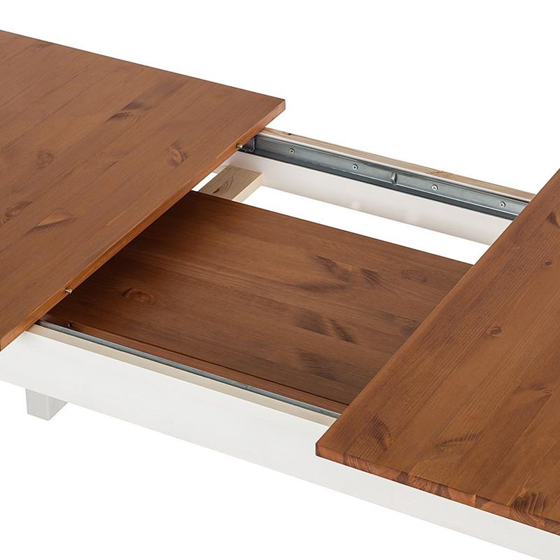 ausziehbarer esstisch tavian 160 200 x 80 cm honig wei. Black Bedroom Furniture Sets. Home Design Ideas
