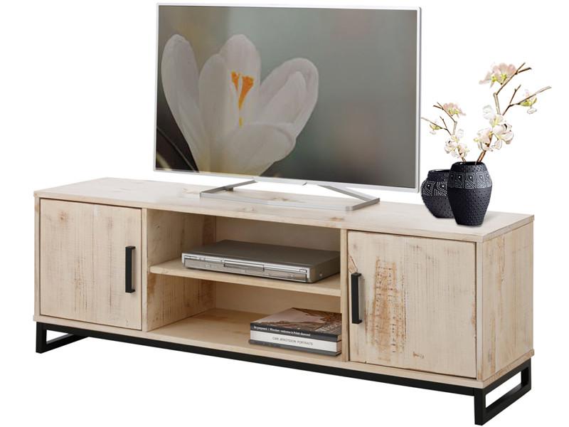 lowboard kiefer affordable lowboard walnuss mit schiebetr holz und kufenfu aus metall fr haus. Black Bedroom Furniture Sets. Home Design Ideas