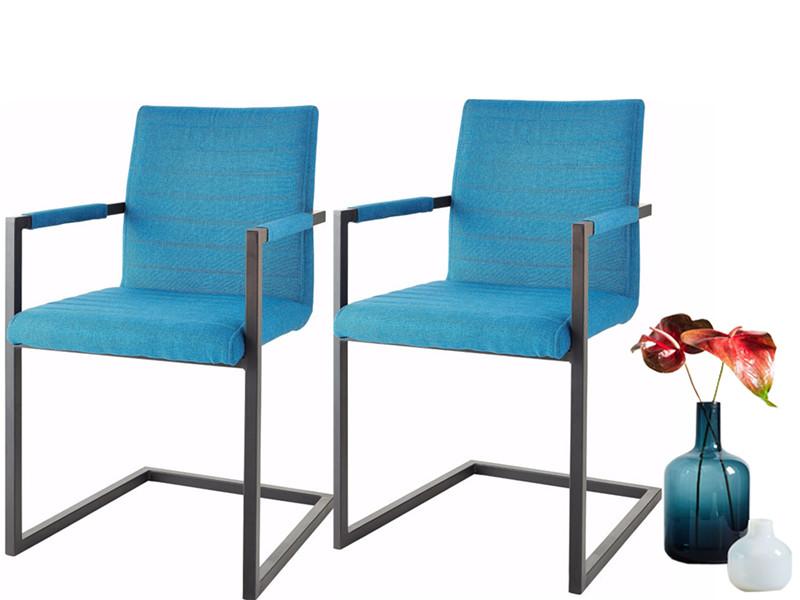 freischwinger st hle serena aus stoff in petrol. Black Bedroom Furniture Sets. Home Design Ideas