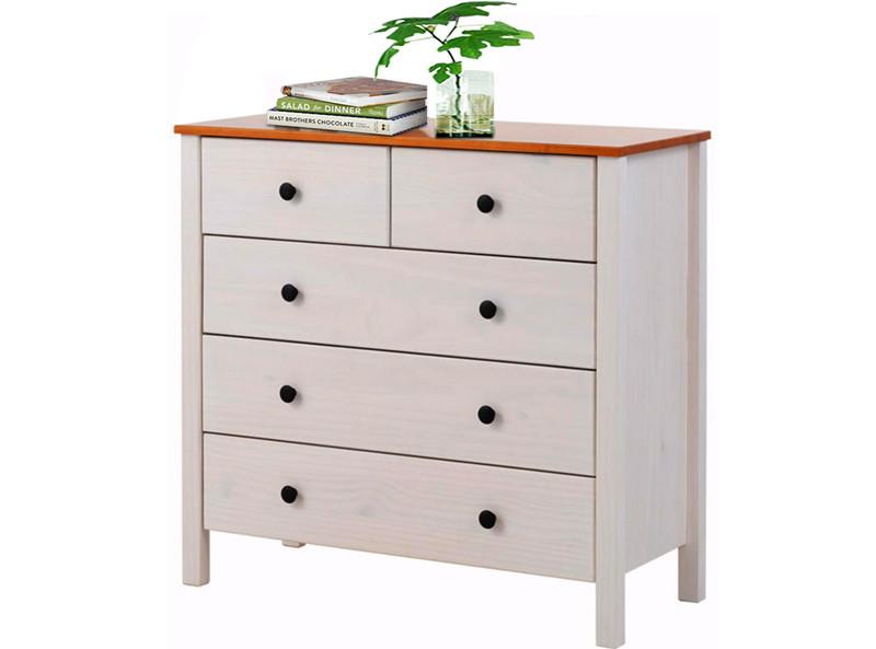kommode breite 85cm aus kiefer massiv in wei honig. Black Bedroom Furniture Sets. Home Design Ideas