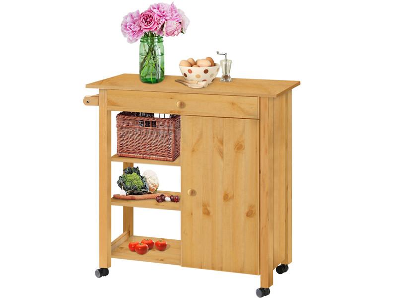 Küchenwagen Landhausstil küchenwagen edmund aus kiefer massiv in gebeizt geölt loft24 de