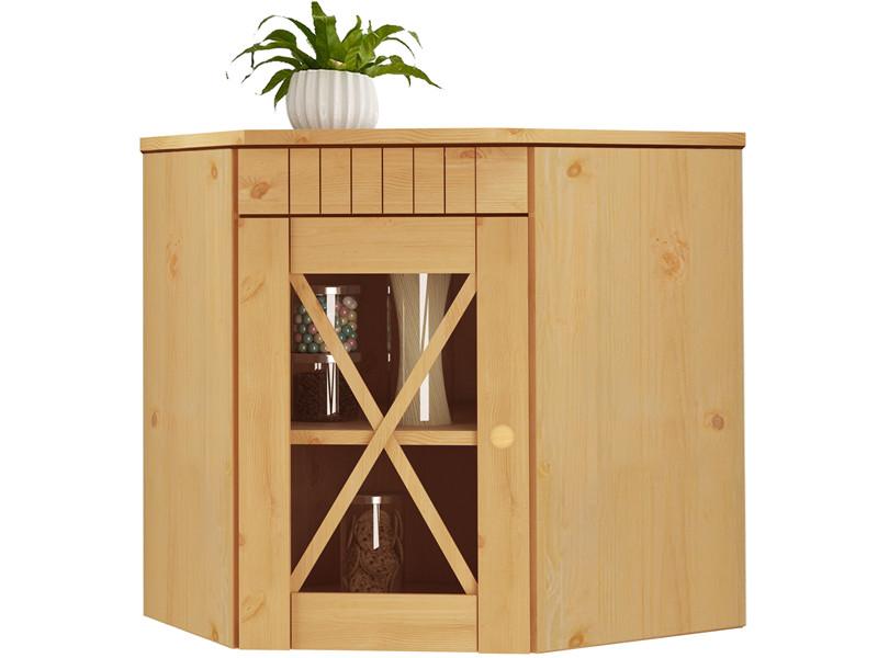 eck h ngeschrank cheryl aus kiefer massiv gebeizt ge lt. Black Bedroom Furniture Sets. Home Design Ideas