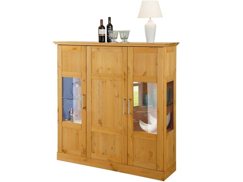 highboard safari 120cm aus kiefer massiv in gebeizt ge lt. Black Bedroom Furniture Sets. Home Design Ideas