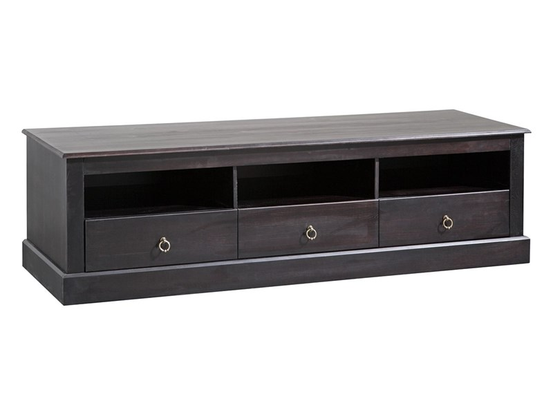 lowboard cadell aus kiefer massiv in havanna lackiert. Black Bedroom Furniture Sets. Home Design Ideas
