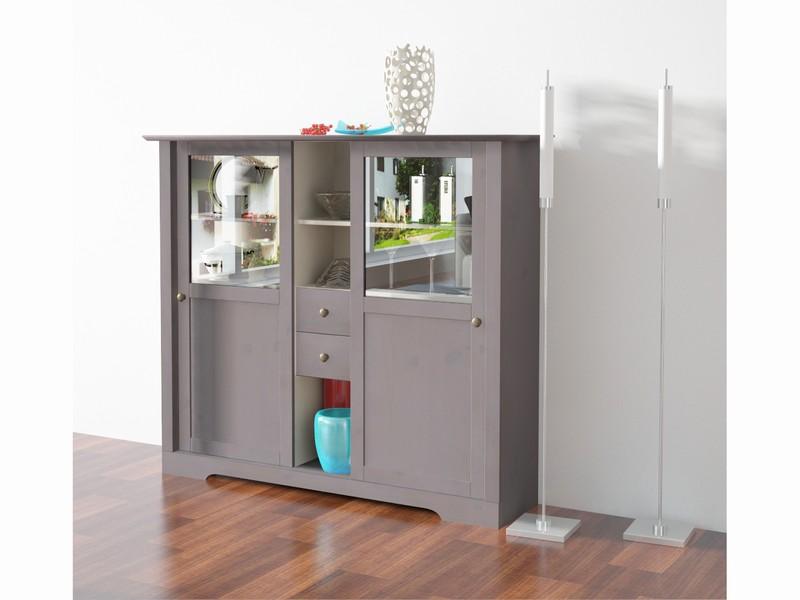highboard roma aus kiefer massiv in grau wei. Black Bedroom Furniture Sets. Home Design Ideas