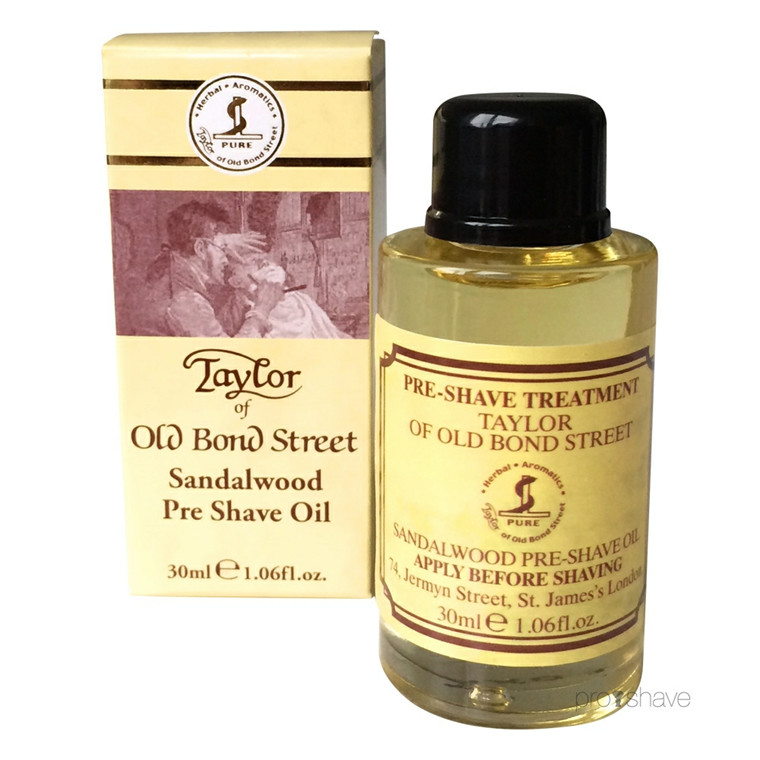 Taylor Of Old Bond Street Preshave Olie, Sandeltræ, 30 ml.