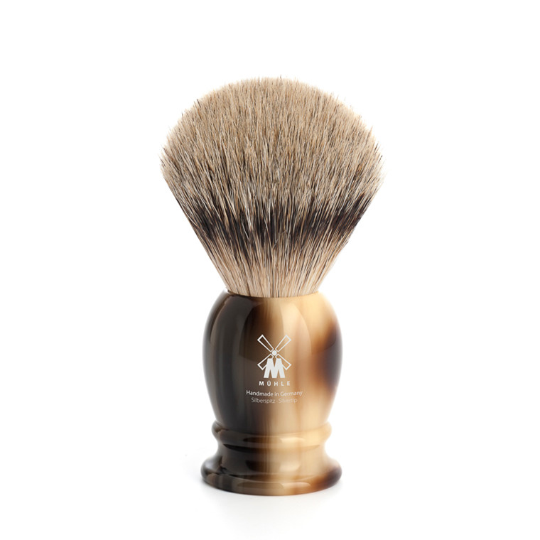 Mühle Silvertip Barberkost, 21 mm, Classic, Brunt horn