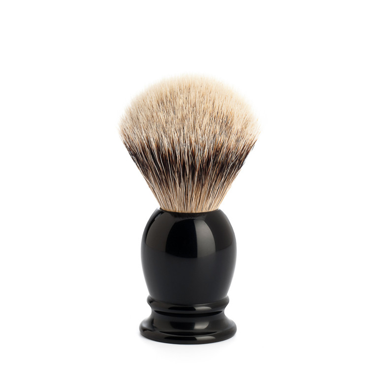 Mühle Silvertip Barberkost, 19 mm, Classic, Sort Kunstharpiks