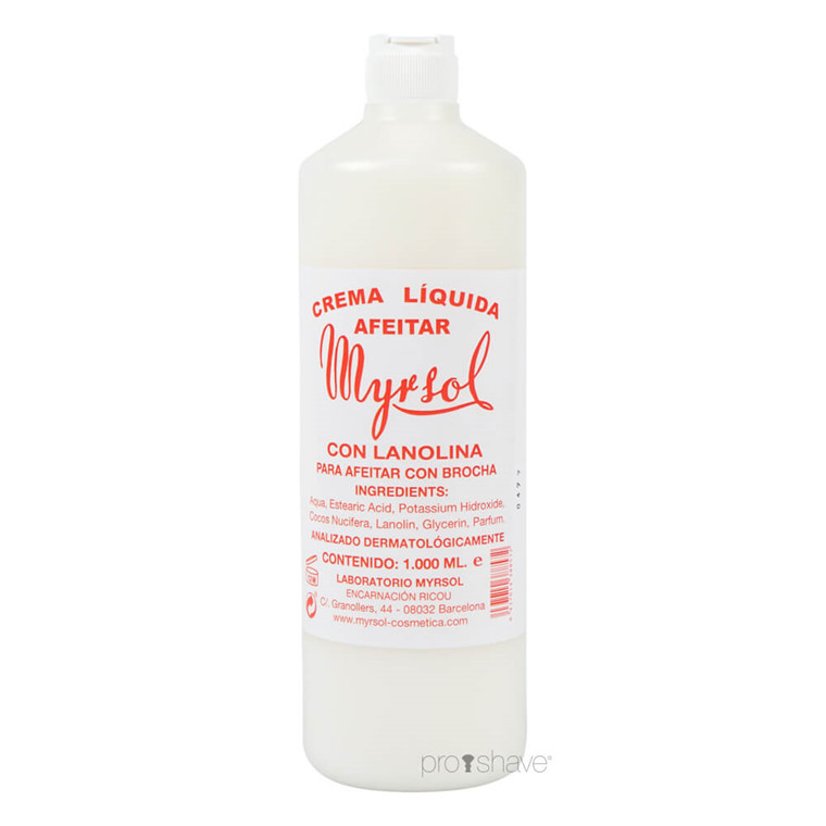Myrsol Barbercreme, 1000 ml.