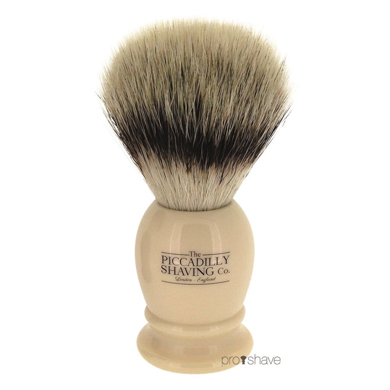 Piccadilly Shaving Imiteret Badger Barberkost, Lille, Ivory