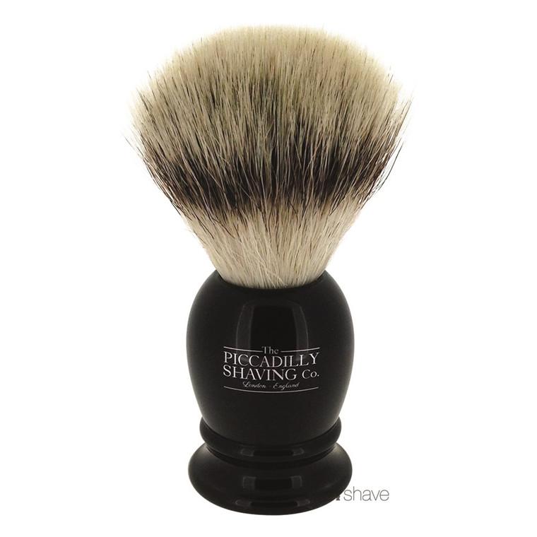 Piccadilly Shaving Imiteret Badger Barberkost, Lille, Sort