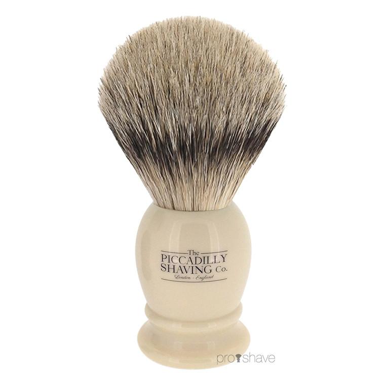 Piccadilly Shaving Super Badger Barberkost, lille, Ivory