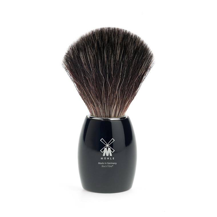 Mühle Black Fibre Barberkost, 21 mm, Høj, Sort Kunstharpiks