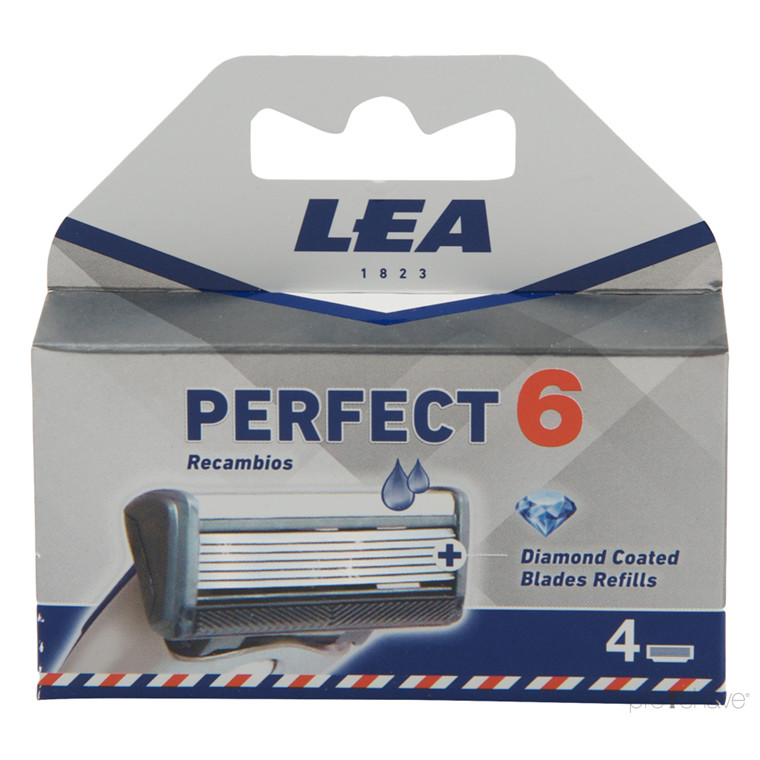 LEA Perfect, Cartridge med 4 barberblade (6+1 klinge)