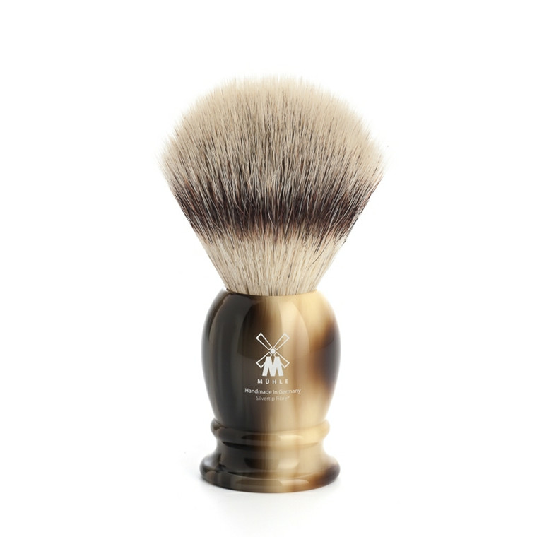 Mühle Silvertip Fiber®, Barberkost, 21 mm, Classic, Brunt horn
