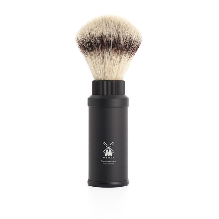 Mühle Rejsebørste Silvertip Fibre®, 21 mm, Mat sort