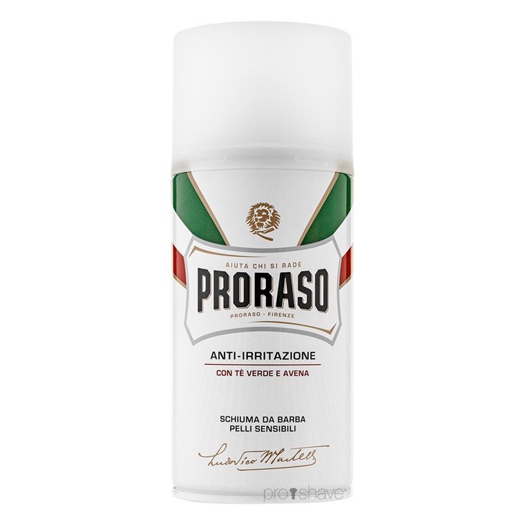 Proraso Barberskum - Sensitive, Grøn Te & Havre, 300 ml.