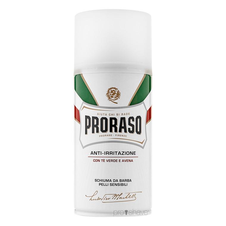 Proraso Barberskum - Sensitive, Grøn Te & Havre, 300 ml.