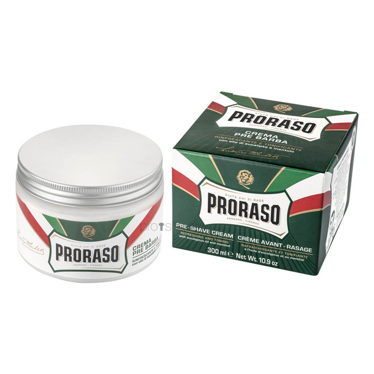 Proraso Preshave Cream - Refresh, Eucalyptus & Menthol, 300 ml.