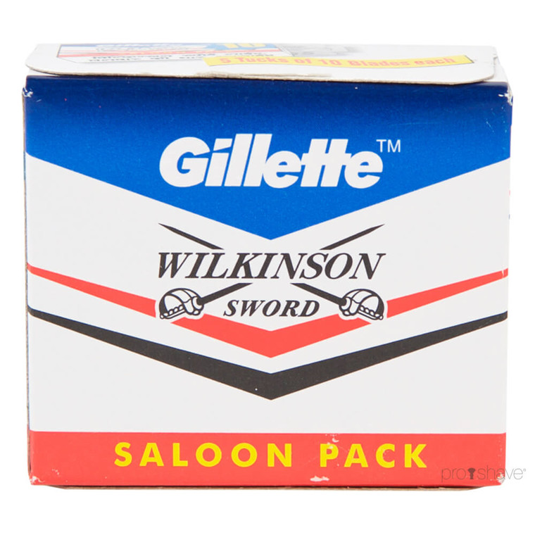 Gillette Wilkinson Sword DE-Barberblade, 50 stk.