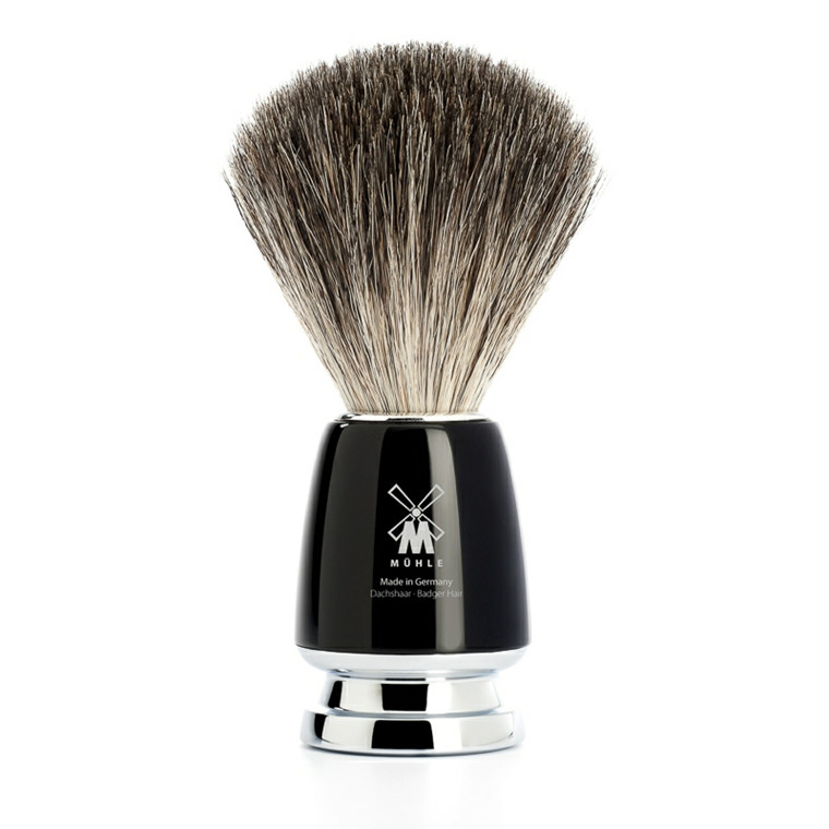 Mühle Pure Badger Barberkost, 21 mm, Rytmo, Sort Kunstharpiks