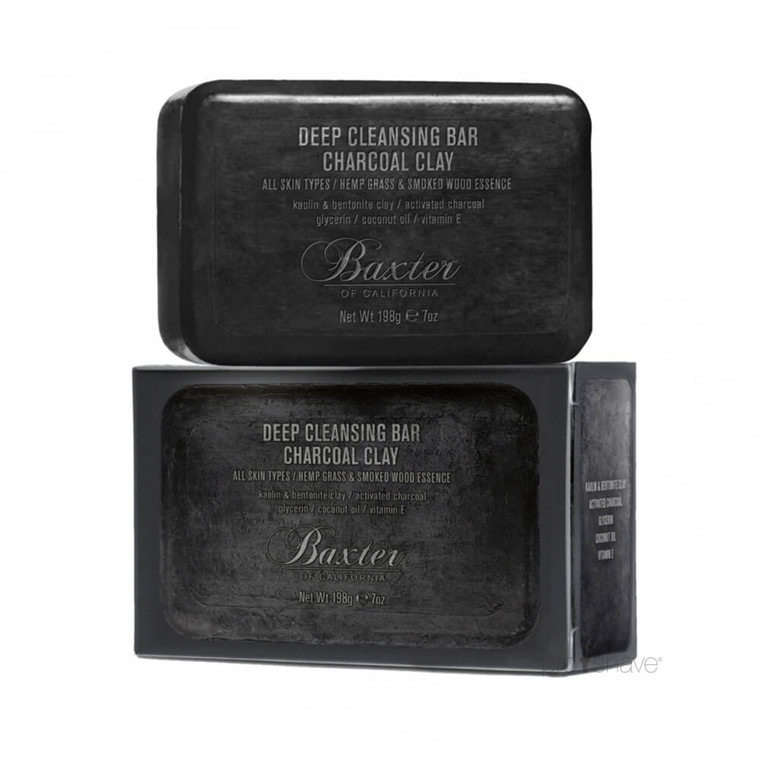 Baxter of California Deep Cleansing Bar Charcoal Clay, 198 gr.